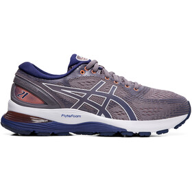 asics Gel-Nimbus 21 Chaussures running Femme, lavender grey/dive blue